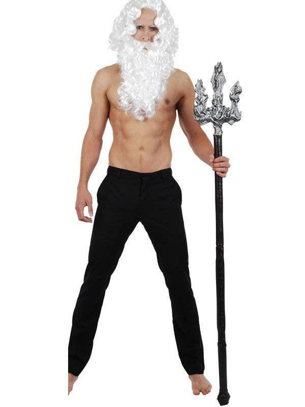 Novelty Poseidon Trident Metal Look Greek God Costume Trident