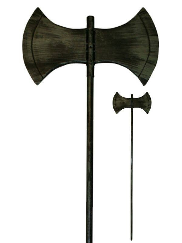 Double Edged Axe Costume Accessory Weapon For Children and Adult's