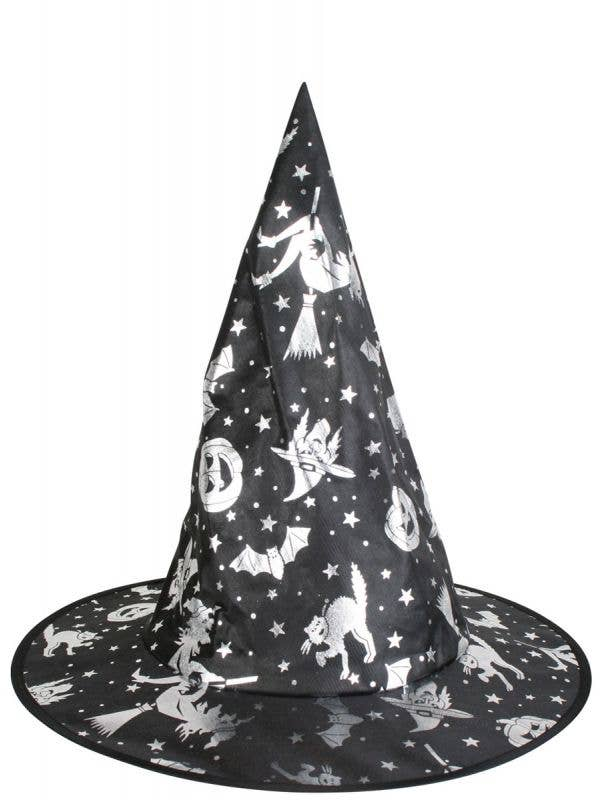 Kids Wicked Witch Silver And Black Costume Hat