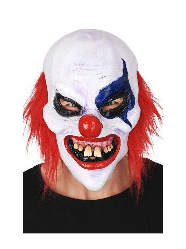 6cbdc3c94 Claude the Clown Halloween Mask | Creepy clown mask with red hair