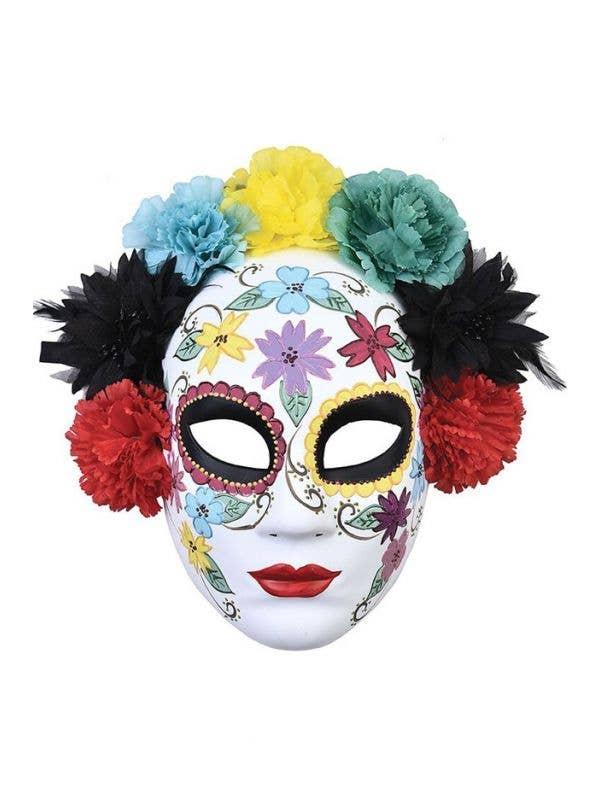 Day of the Dead Coloured Sugar Skull Face Masquerade Mask