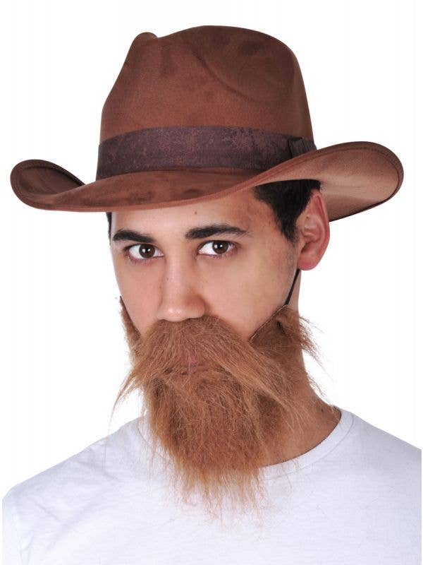 brown beard and moustache set bushy mens brown wild