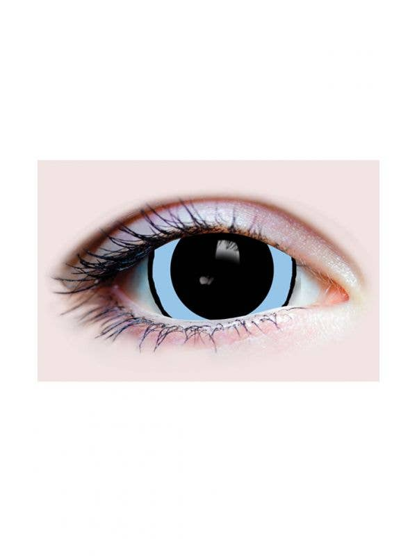 Dilated Pupil Acid Trip Black And Blue Primal Contact Lenses