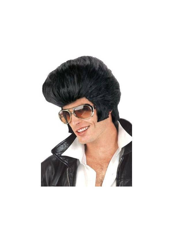 Be The King with this Black Elvis Costume Wig Main Image d6734c9ffaac