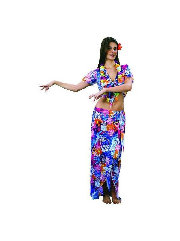 Hawaiian Women\u0027s Sexy Floral Fancy Dress Costume