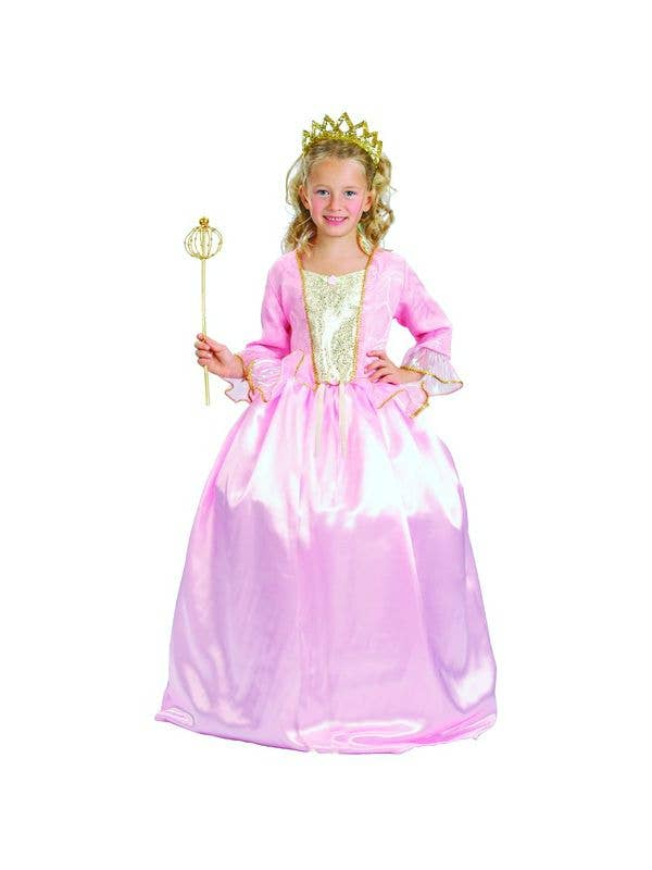 Girl's Pink Princess Costume - Main Image