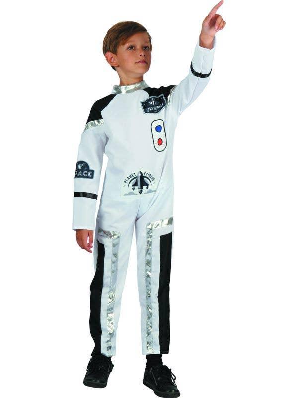 Boy's White Astronaut Fancy Dress Costume - Main Image