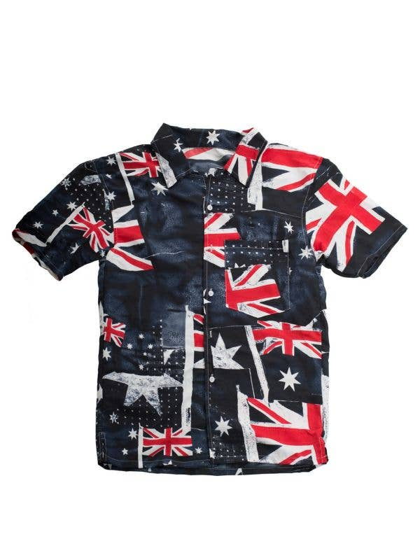 Men's Australian Flags Short Sleeve Australia Day Shirt