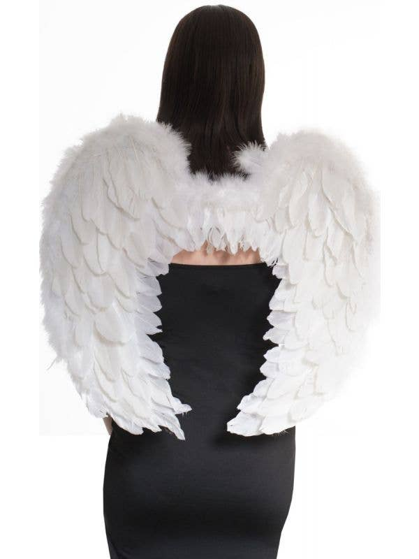 Women's White Feather Angel Costume Accessory Wings Main image