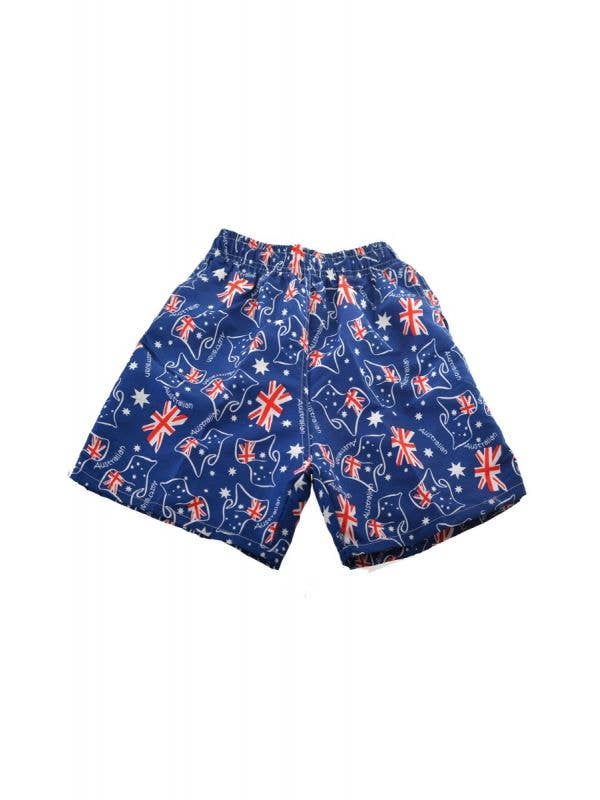 TM-AX-419036 Australian Boy-s Board Shorts with Australian Flags Australia Day Kids Clothing Main Image