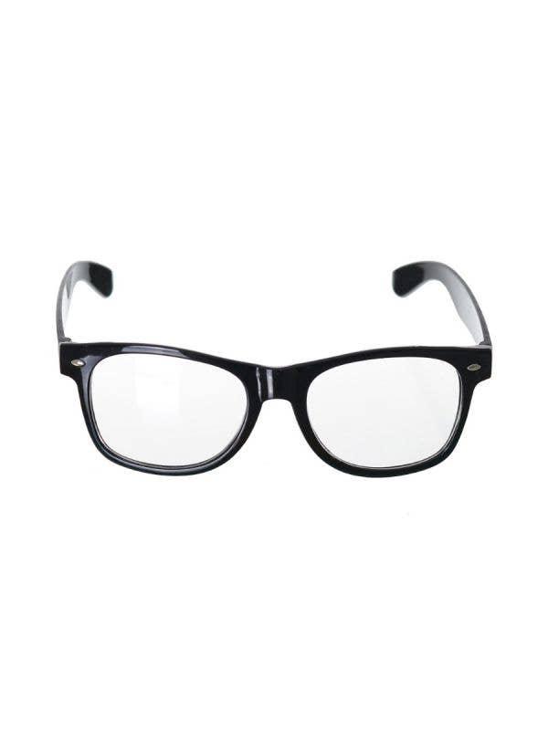 Black Frame Nerd Glasses Costume Accessory - Main Image