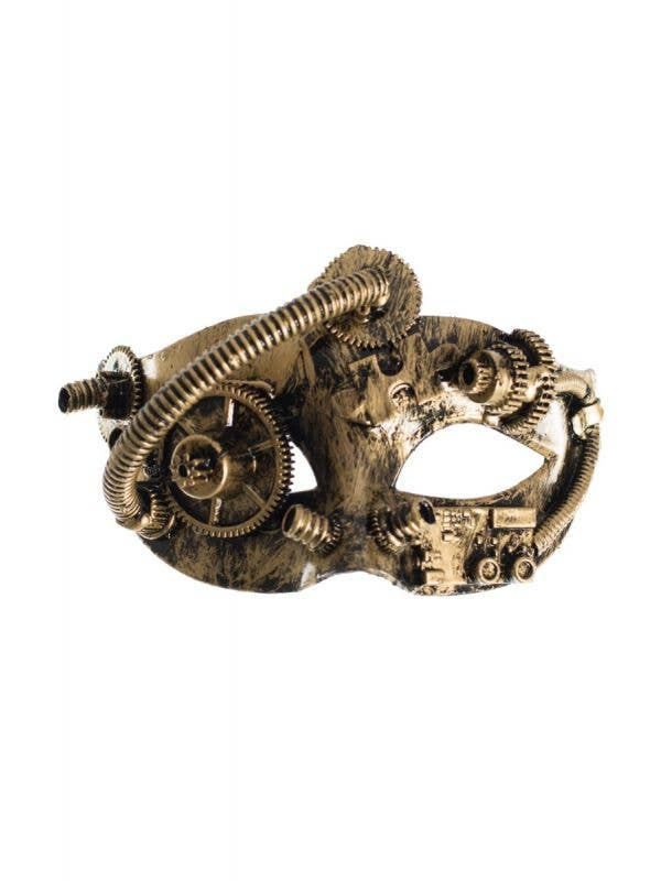 Men's Gold Steampunk Masquerade Mask - Main View