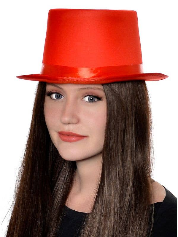 Unisex Adult's Classic Red Top Hat Costume Accessory