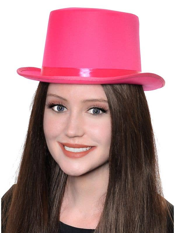 Adult's Classic Pink Top Hat Costume Accessory