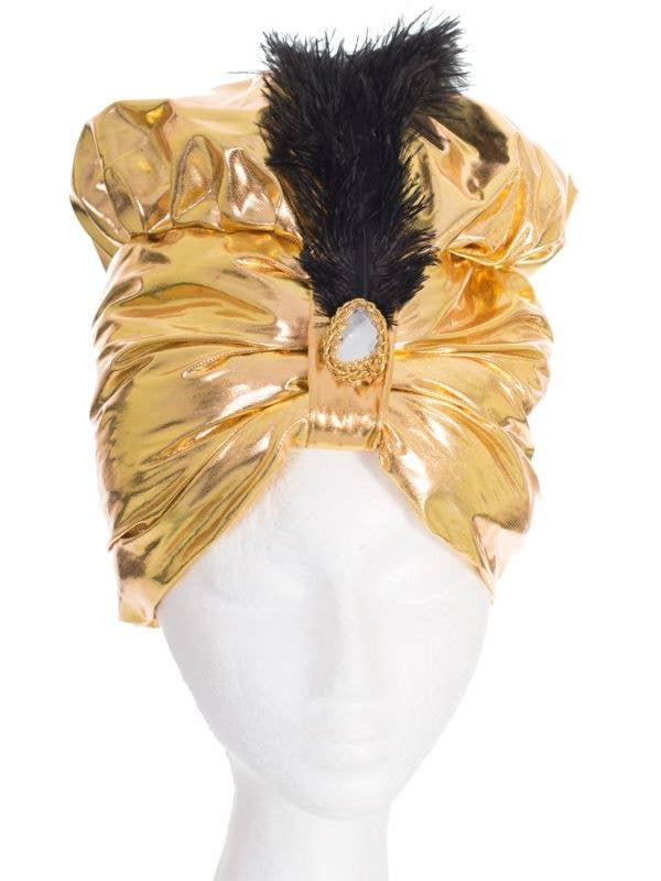 Gold Arabian Genie Turban Fancy Dress Costume Hat