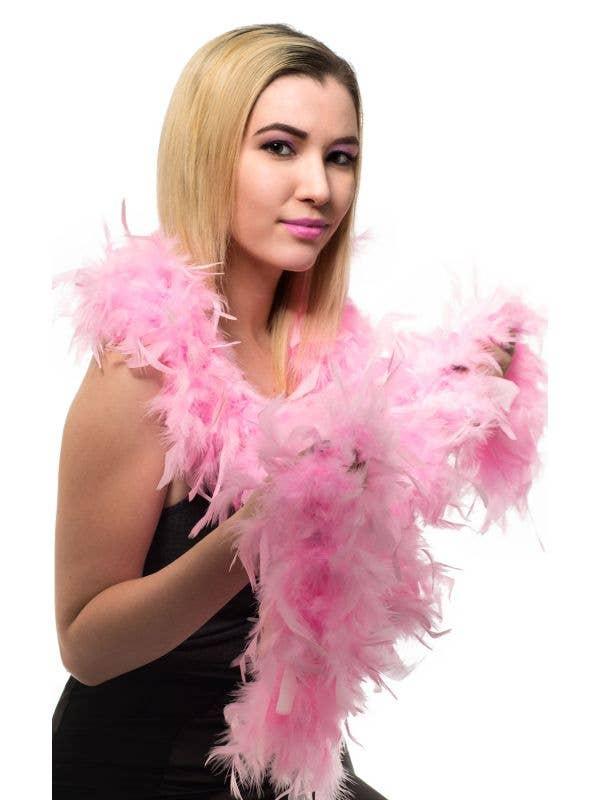 Light Pink Feather Boa Costume Accessory Main Image