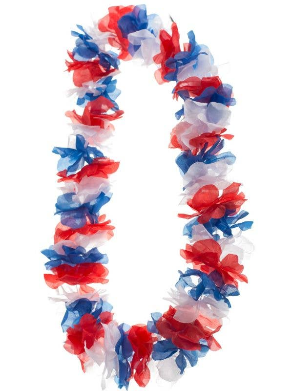 Red, White and Blue Australia Day Novelty Lei