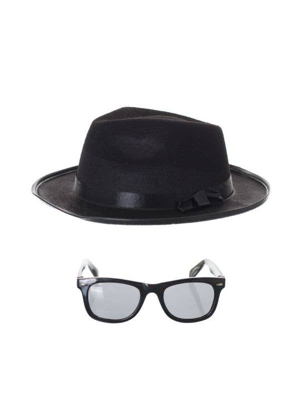 Blues Brothers Hat and Glasses Costume Accessory Set