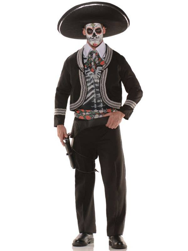 Men's Mexican Day of the Dead Mariachi Plus Size Fancy Dress Costume Main Image