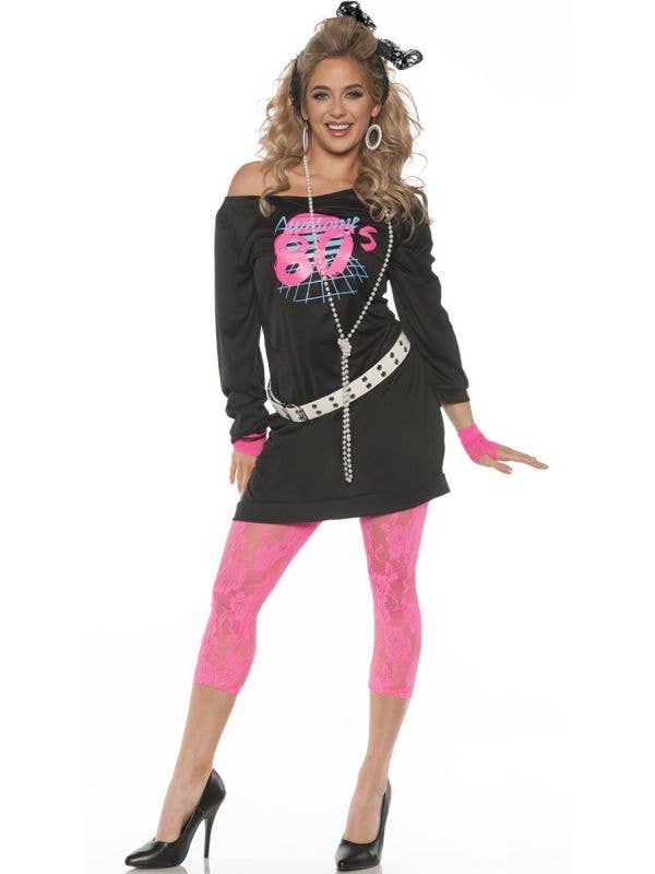 Women's 80s Fashion I love the 80's Costume - Image 1