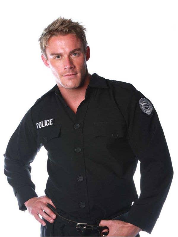 Black Police Shirt Men S Police Uniform Men S Costume