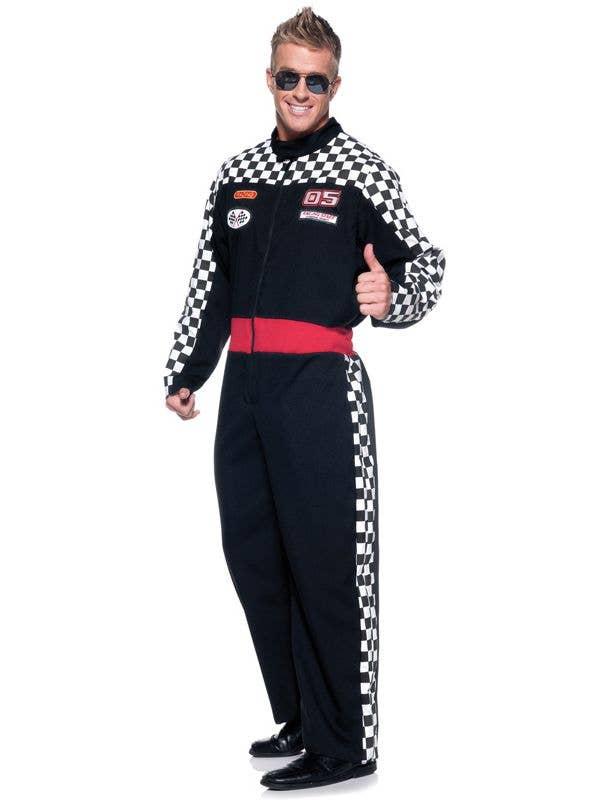 bd79e9b686 Men s Race Car Driver Costume Jumpsuit Front