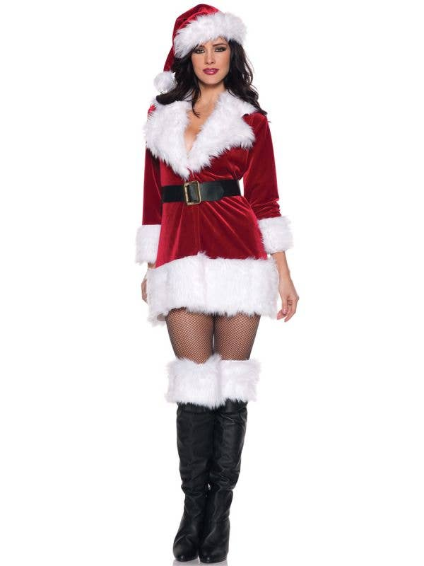 Christmas Dresses Women's Sexy Secret Santa Christmas Fancy Dress Costume