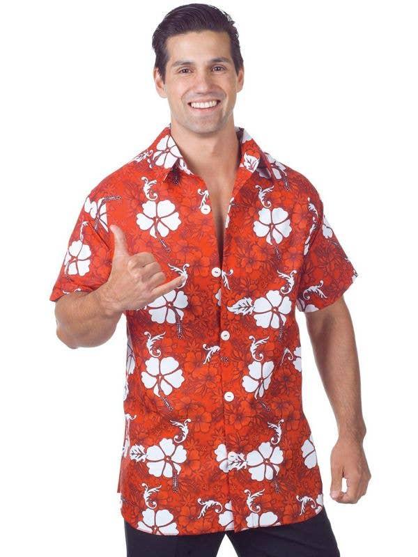 b263af58 Men's Novelty Red Hawaiian Fancy Dress Costume Shirt