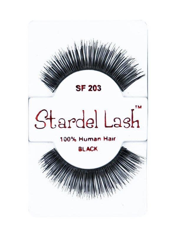 fa382f08b8d Human Hair Thick Mid Length Eyelashes, Adults Black Eyelashes