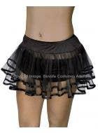 Bound Petticoat Underskirt - Black with Black