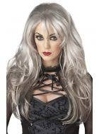 Fallen Angel Women's Long Grey Ghost Halloween Costume Wig