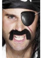 Black Plastic Eye Patch Costume Accessory