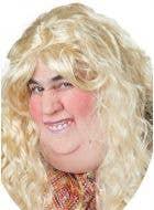 Fat Woman Novelty Adult's Latex Costume Half Mask