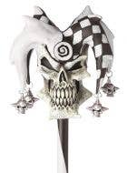Psycho Jester Black and White Halloween Cane