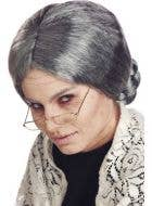 Women's Old Grandma Grey Costume Wig