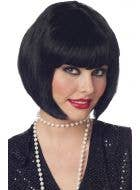 Black Bob Flapper Costume Wig Image 1
