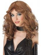 1970's Disco Women's Caramel Brown Costume Wig