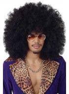 Jumbo Black Afro Unisex Adult's Costume Wig Main Image