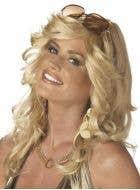 Farrah Fawcett Women's Blonde Curly Costume Wig