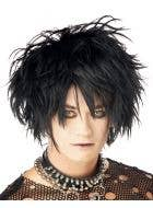 Midnight Fiend Men's Punk Halloween Costume Wig