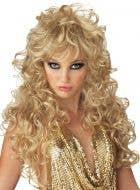 Seduction 70's Blonde Disco Wig