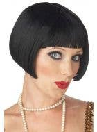 Women's Short Black Bob Cut Gatsby Flapper 1920's Costume Wig