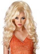 Curly Blonde Women's Costume Wig Main Image
