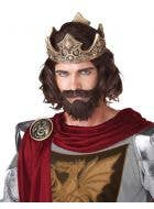 Medieval King Men's Wig, Beard and Moustache Set