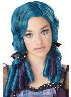 Doll Curls Women's Blue and Purple Wig