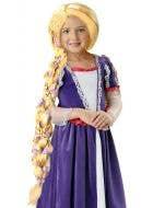 Rapunzel Girls Braided Long Blonde Wig