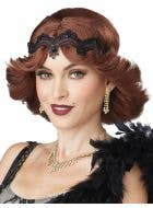 Brunette Auburn Flick Women's Gatsby Girl Flapper 1920's Costume Wig