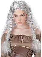 Viking Princess Women's Grey Costume Wig