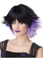 Women's Bad Fairy Purple And Black Costume Wig