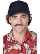 Men's Retro Magnum P.I. Costume Moustache Accessory